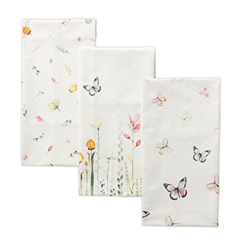 (Maison d' Hermine Botanical Fresh 100% Cotton Set of 3 Kitchen Towels 20 Inch by 27.50)