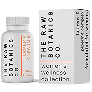 The Raw Botanics Co • Turmeric Curcumin Complex • Women's Wellness Collection • 600mg 120 Capsules