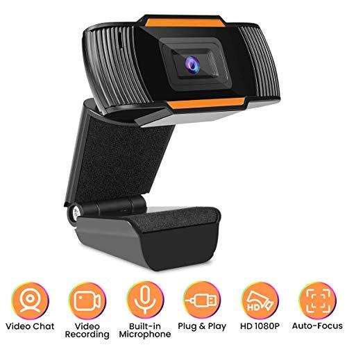 🥇 MECO Webcam con Micrófono para PC Cámara Web HD 1080P para PC Portátil