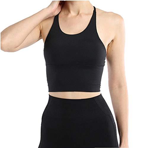 Fitness Bra Top Vrouwen Sporten Fitness Cross Terug Strappy Sportbeha Voor Workout Running Fitness White S