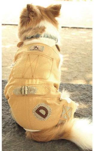ワークオーバーオール型紙 eco印刷 大きな中型犬中型犬S~中型犬L