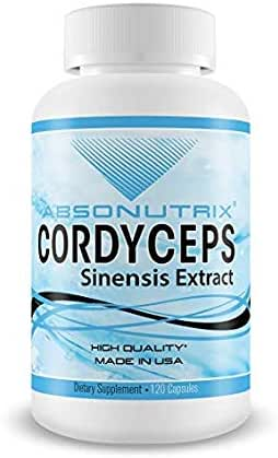 Absonutrix Cordyceps Sinensis Extract |Made in USA |120 Veg Capsules Increased Immunity and Energy Levels