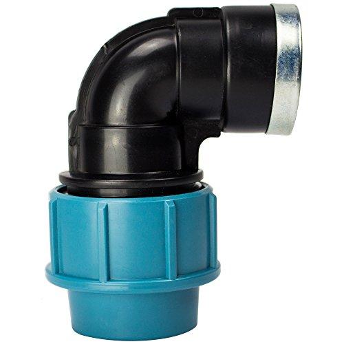 PE Rohr Verschraubung Winkel 90° 32 mm x 1