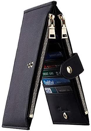 Travelambo Womens Walllet RFID Blocking Bifold Multi Card Case Wallet with Zipper Pocket