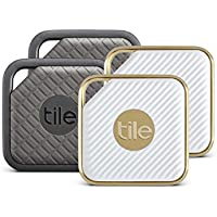 4-Pack Tile Anything Tracker/Finder Combo Pack (2 Tile Sport and 2 Tile Style)