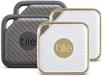 4-Pack Tile Item Tracker Combo Pack (2 Tile Sport and 2 Tile Style)