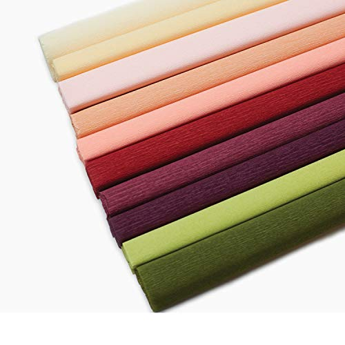 Lia Griffith Extra Fine Crepe Paper Folds Rolls, 10.7-Square Feet, Assorted Colors (LG11018)