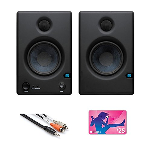 PreSonus E4.5 Eris Monitor pair with Cable and iTunes Gift Card Bundle ERIS E45
