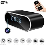 Cheap Mopora WiFi Hidden Camera Clock, 1080P Wireless Home IP Surveillance Security Camera, APP Remote Real-Time View, Motion Detection Alarm, Loop Recording