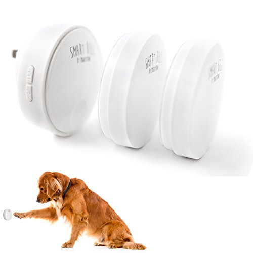 (Mighty Paw Smart Bell 2.0, Dog Potty Communication Doorbell, Super-light Press Button Doorbell (2 Activators, White))