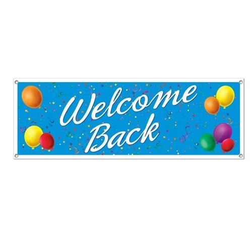 Welcome Back Sign Banner (Welcome Back Banner)
