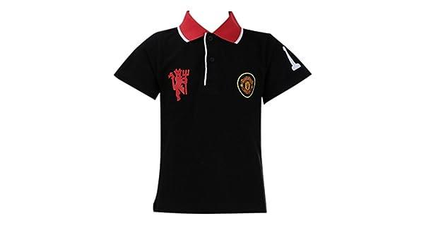 Manchester United - Polo niño (Talla de 4 a 12 años), Color Negro ...