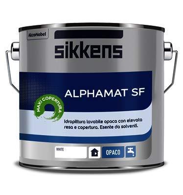 Pittura Lavabile Per Interni Sikkens.Alphamat Sf Sikkens Bianco 2 5 Litri Nuova Formula Maxi