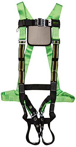 Miller by Honeywell P950QC-4/XXXLGN DuraFlex Python Full-Body Ultra Harnesses with Tubular Webbing and Comfort D-Pad, XXX-Large, Green