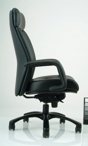 Manno Ergonomic Executive High Back Chair in Black (Leather - Black) price