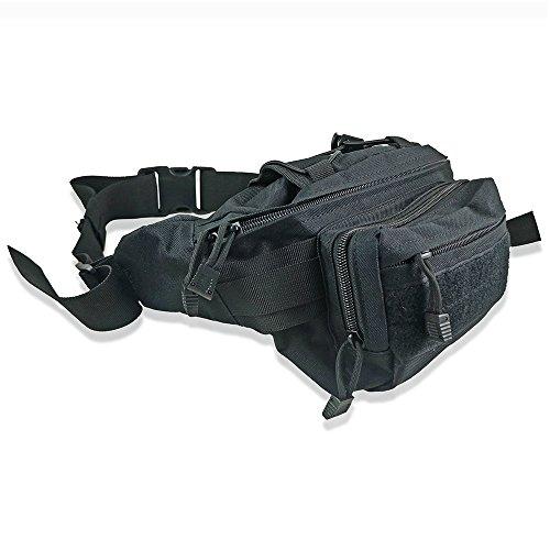gs-directly Tactical Military Sicherer Taille Tasche Pack strapazierfähig Stoff Bauchtasche Hip Moneybelt Tasche für Outdoor Laufen Camping Trekking Wandern Walking Hunde