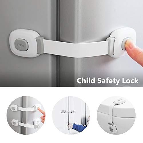 Locn 29 Piezas Kit Seguridad Bebe, 10 Protector Esquinas Niños,10 Seguridad Enchufes Bebes, 5 Metros Protector de Esquinas y Bordes, 4 Cierres Seguridad ...