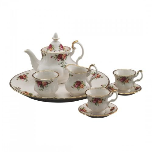 Country Roses Old - Royal Albert 28839013 Old Country Roses Le Petite 9-Piece Miniature Tea Set