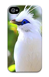 iPhone 4 4S Case Beautiful white bird 3D Custom iPhone 4 4S Case Cover