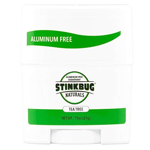 Stinkbug Naturals Aluminum Free Travel Size Deodorant All Natural Tea Tree 3-Pack, 0.75 Oz, Paraben Free