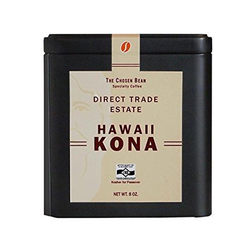 The Chosen Bean 100% Kona Estate Coffee Direct Trade Hawaii Organic Practices Hand Picked Whole Bean
