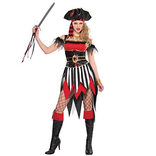 Amscan 841527 Adult Shipwreck Treasure Pirate Costume, Large (10-12), Black]()