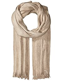 Calvin Klein womens Soft Acrylic Fringe Scarf Cold Weather Scarf