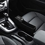 KMMOTORS Coin Side Pocket Black Console Side Organizer Crevice...