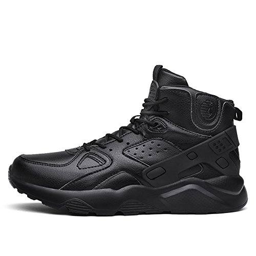 Fexkean Sneakers Sport Baskets De Chaussures Shoes Outdoor Hautes Mode Multisports Running Gym Fitness Noir Homme rqA0wr