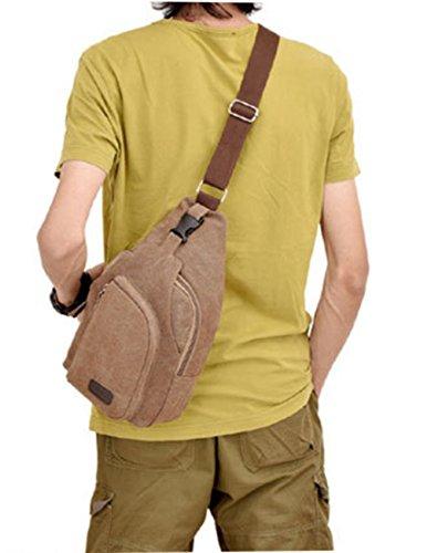 ModaKeusu - Bolso al hombro para hombre marrón café café