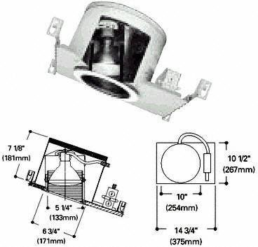 Halo H47ICAT, 6'' Housing Slope Ceiling IC Air-Tite 120V Line Voltage, 4 Pack by Halo Recessed