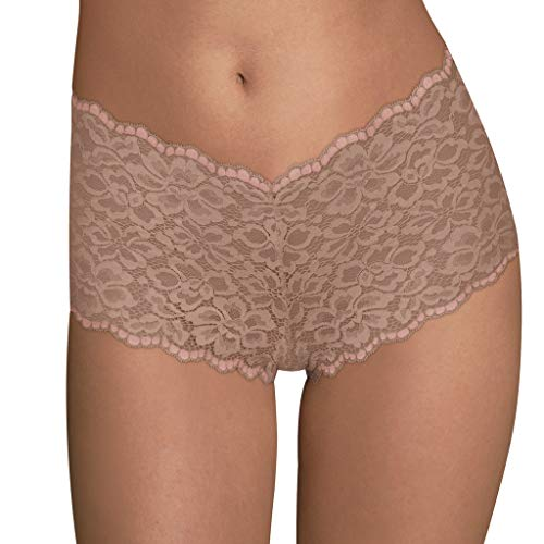 Maidenform Women's Casual Comfort Cheeky Boyshort, Evening Blush/Sheer Pale Pink, 7