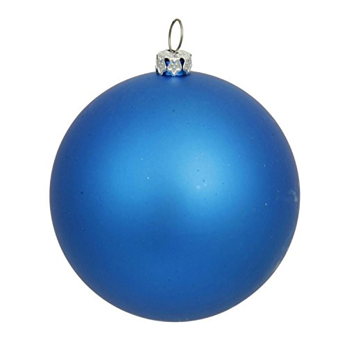 By Vickerman Matte Blue UV Resistant Commercial Drilled Shatterproof Christmas Ball Ornament 15.75''(400mm) by By Vickerman (Image #1)