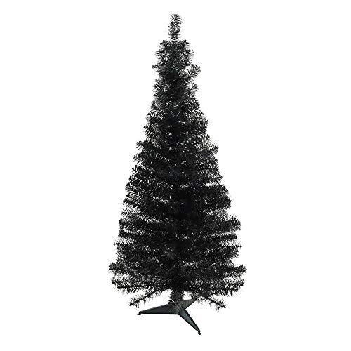 Northlight Unlit Slim Black Tinsel Artificial Christmas Tree, 4' x -