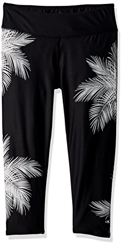 - O'Neill Women's Harbor Crop 365 Hybrid Capri Leggings, Black Harber, Medium