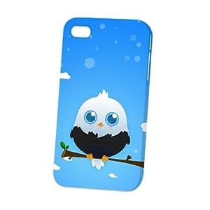 Case Fun Apple iPhone 4 / 4S Case - Vogue Version - 3D Full Wrap - Black American Eagle by DevilleART