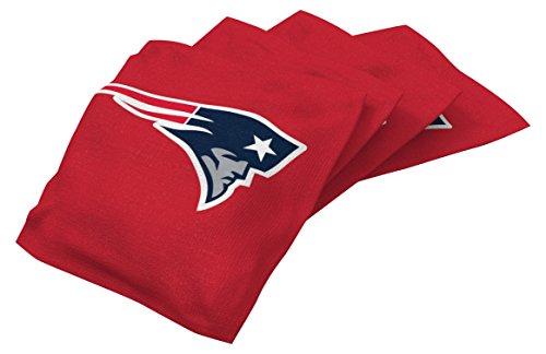 Wild Sports NFL New England Patriots Red Authentic Cornhole Bean Bag Set (4 Pack) - Nfl Team Bean Bag