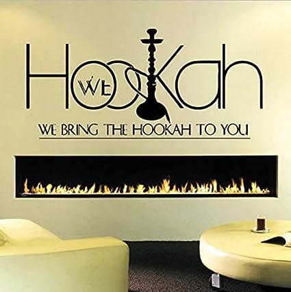 Muestra de la Tienda Etiqueta de La Pared Etiqueta del Dormitorio Hookah Lounge Logo Barra de la Cachimba Ventana Decoración de La Pared Extraíble Home Decor30x65cm