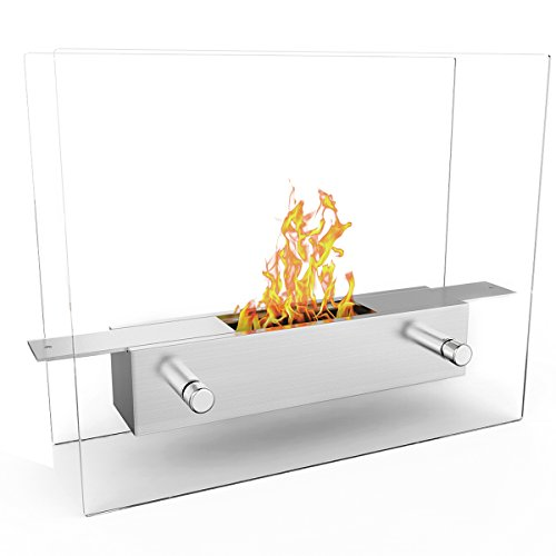 Elite Flame Lyon Portable Tabletop Ventless Bio Ethanol Fireplace
