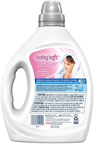 41vQTDeJmlL. AC - Purex Liquid Laundry Detergent, Baby Soft, Hypoallergenic, 2X Concentrated, 2 Pack, 220 Total Loads