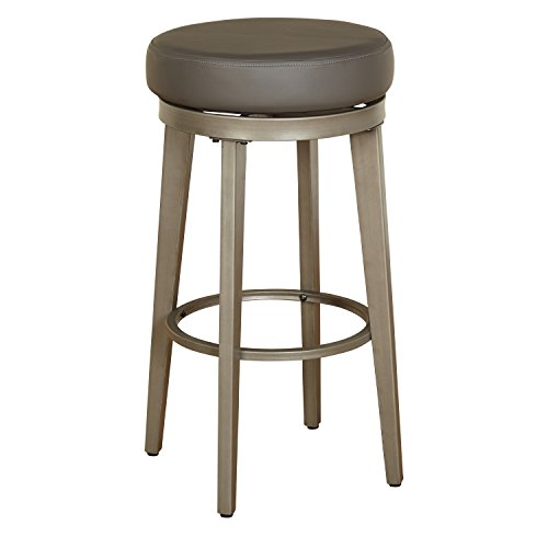 Angelo HOME 80930GRY PR Linden Swivel Stool Set of 2 30-inch