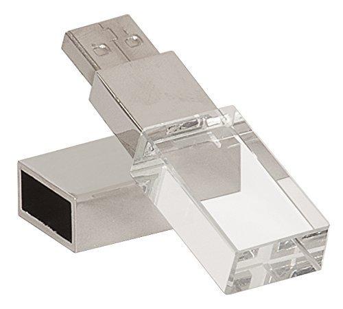 Laak 8GB New Crystal Transparent Rectangle Genuine USB Flash Drive 3.0 Wedding Gift Pendrive,Silver (Usb Flash Drive Fancy)