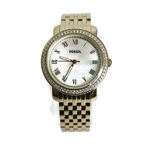- Fossil Women's ES3113 Stainless Steel Analog Mother-of-Pearl Dial Watch