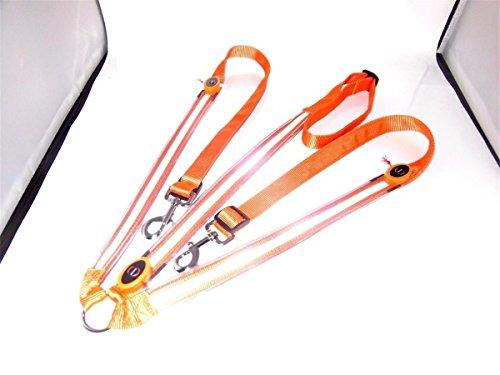 BININBOX LED Horse Breastplate Collar Equestrian Riding Bridle Halter Safety Light Horses Neck Belt Equipment Horsing Accessory Horseback (Orange)