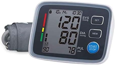 Morchi Blood Pressure Monitor Sphygmomanometer - Automatic Blood Pressure Machine, Blood Pressure Monitor Upper Arm for Wide Range BP Monitor, High Blood Pressure Monitor 2 User Mode