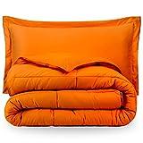 Bare Home Premium Down Alternative Comforter Set - Hypoallergenic - All Season - Plush Siliconized Fiberfill (Twin/Twin XL, Orange)