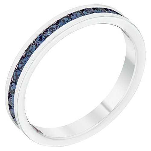 Stylish Birthstone Stackables Swarovski Crystal By Kate Bissett Montana Blue -September Size ()