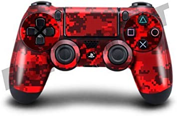 Stillshine PS4 Controller Vinyl Skin Diseñador Piel Pegatina para Sony PlayStation 4 PS4 Slim PS4 Pro DualShock mando inalámbrico x 1 (Mosaic Red): Amazon.es: Electrónica