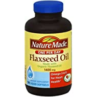 Nature Made Flaxseed Oil 1400 Mg Softgel, 180 Count