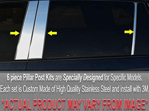 (QAA FITS Lesabre 2000-2005 Buick (6 Pc: Stainless Steel Pillar Post Trim Kit, 4-Door) PP40566)